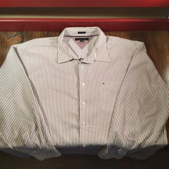 ac18e278 Tommy Hilfiger Shirts | Mens 80s 2 Ply Fabric Ls 2xl | Poshmark